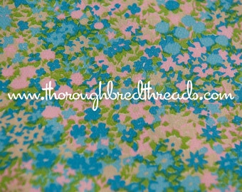 Neon Floral - Vintage Fabric New Old Stock 60s wide A Fun Flower Power