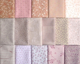 Japanese cotton prints - 16 Diawabo, Lecien and Sevenberry pink fat eighths
