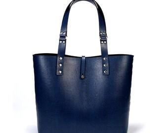 Cobalt Tote Bag | Blue Tote | Vegan | Made in USA
