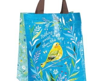 Sweet Bird Reusable Tote Bag | Small Grocery Bag