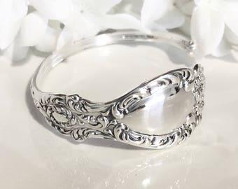 STERLING Silver Bracelet Cuff, 1896 LUCERNE, Silver Cuff Bracelet, Spoon Bracelet, Cuff, Spoon Jewelry, Silver Bracelet Cuff