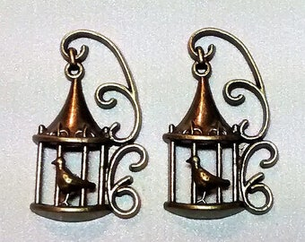 E-119 Antique Gold Birdcages