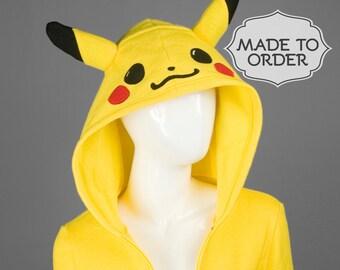 Pikachu Pokemon Costume Hoodie - Made to Order