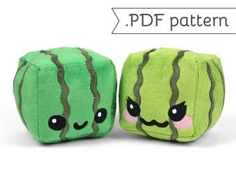 Cube Watermelon Plush .pdf Sewing Pattern