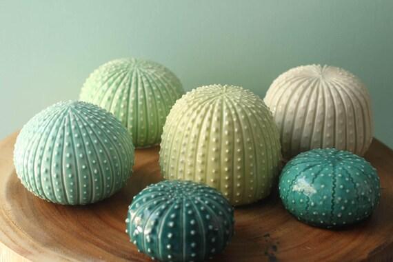small  faux cactus, porcelain