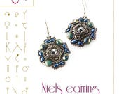 Beading tutorial / pattern Niels earring. Beading instruction in PDF – for personal use only