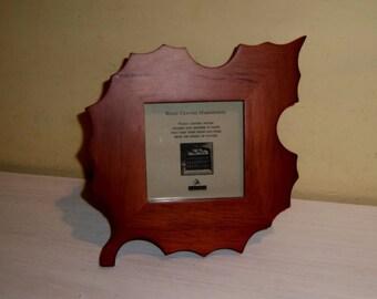Wooden Leaf FRAME Hardwood Picture Photo Malden wood glass