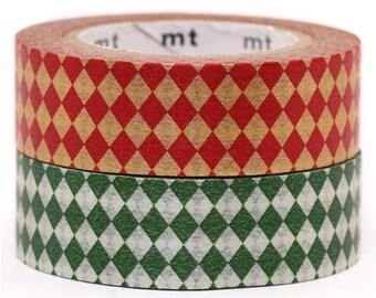 193834 mt Washi Masking Tape deco tape set 2pcs with diamonds