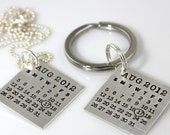 Mark Your Calendar Key Chain and Necklace Set
