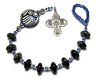 20% OFF Catholic One Decade Rosary Chaplet Tenner Handmade Focal Bead Pewter First Family Four-way Cross Under 25 Dollars Glass Hail Mary Be