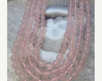 50% Mega Sale 9mm Chalcedony Round Gemstone Beads - Pink