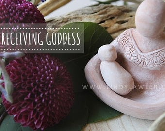 Receiving Goddess - Gift Midwife Doula new mom - Womb birth baby blessing - blessingway - Altar - Sacred Feminine - Baby Shower - Birth Art
