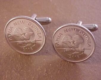 Papua New Guinea Coin Cuff Links