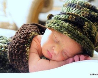 Baby Camouflage Cocoon/Burrito (Newborn to 3 mo.)