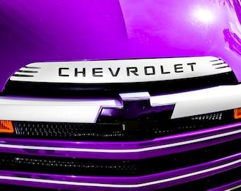 Chevrolet SSR Purple Car Photography, Automotive, Auto Dealer, Muscle, Sports Car, Mechanic, Boys Room, Garage, Dealership Art