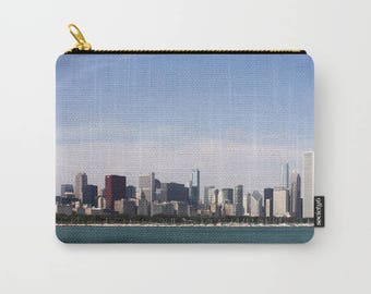 Chicago Skyline Color Photo Carry All Pouch