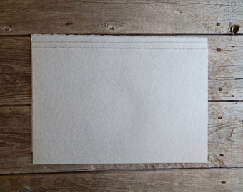 """10 Large size 12"""" x 18"""" sheets of limited edition grey or gray deckle edge parchment pattern paper , calligraphy paper, parchment paper"""