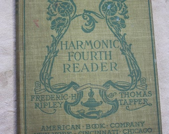 Vintage SONG BOOK- Harmonic Fourth Reader- Music Book- Copyright 1903- Music Hymns- American Book Company