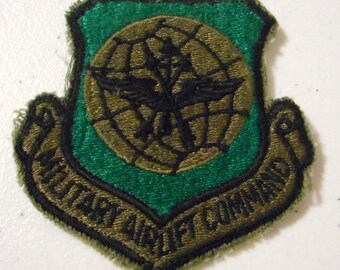 Military Airlift Command Embroidered Patch US Air Force Green Black Sew On