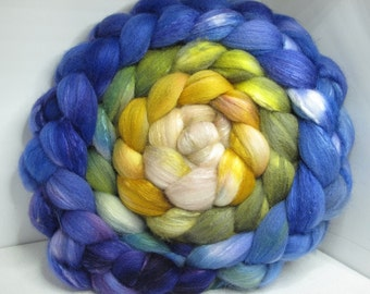 Sale Organic Polwarth/Bombyx 80/20 Roving Combed Top 5oz - Craig na Dun - 2 - Different