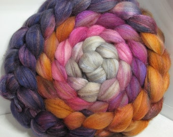 Reserve G Merino/Baby Camel/Tussah 60/20/20 Roving Combed Top - 5oz - Fogged Orchid 1