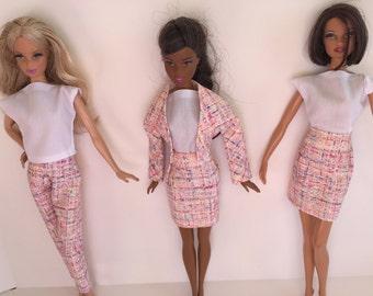 Handmade Barbie Clothes Top Jacket Skirt Pants (2G1002)