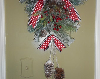 Mac Kenzie Courtly check ribbon on my custom Christmas Swag