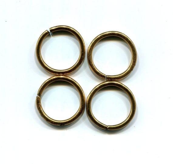 2 vintage jump rings jumprings hoops 30 mm hoop metal jewelry supplies findings
