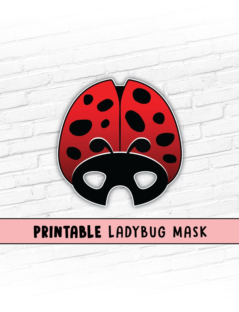 ladybug printable mask ladybird mask red beetle mask bug