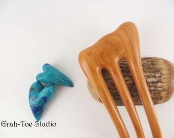 Yew Wood Hair Fork,Mini Threnody, Wooden Hairfork,Hair Forks,Hairforks,Hair Stick,Hairsticks wood,Man Bun,wood fork,Hair Pick, Hairpins