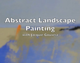 Top Selling Item, VIDEO Tutorial Abstract Landscape Painting, Painting Lesson, Best Selling Item, Learn to Paint, How to Paint, Step by Step