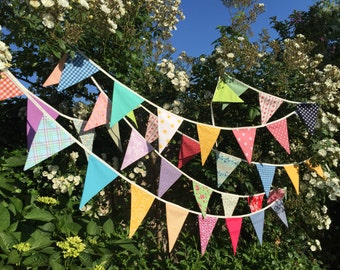 Wedding bunting - customise to match your colour theme sizes from 3ft card table to 100ft