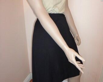 Vintage 1970's Black Wrap Skirt Sz 22