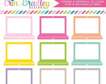 50% OFF SALE Instant Download Clipart Laptop Graphics for School or Work