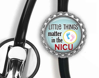 NICU Stethoscope Id Tag - Nursing Student, Rn, Gifts for Nurses, Doctor Gift, Med Student, Graduation Gift, Stethoscope Accessorie