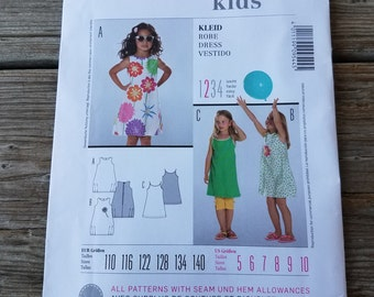 Burda Size 5-10 Girl's Jumper Dress Sewing Pattern 9544  UNCUT Factory Folded