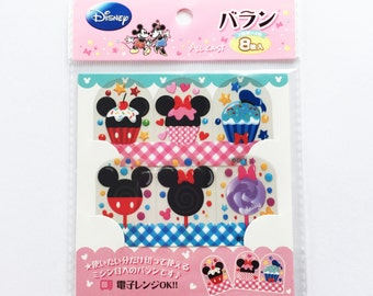 Disney Mickey Mouse, Minnie Mouse, Donald And Daisy Duck Cupcakes & Lolly Japanese Plastic Food Dividers / Separators For Bento Lunch Making