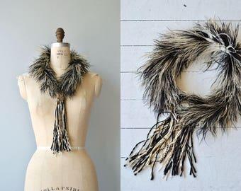 Belle Epoque ostrich stole | antique Victorian collar | ostrich Edwardian stole