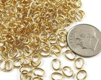 TierraCast Medium Oval Jump Ring - GOLD 5x6mm (200)
