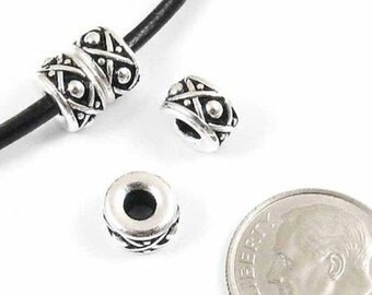 TierraCast Large 2.5mm Hole Beads-SILVER LEGEND SPACER 8mm (4)