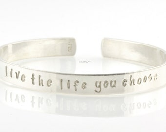 Cuff Bracelet with Personalized Message