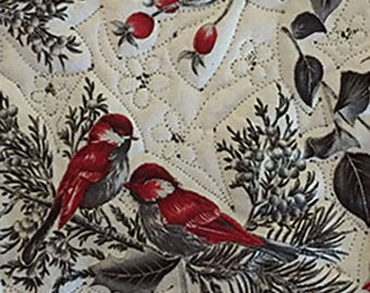 Bird Art - Bird Artwork - Bird Wall Decor - Bird Wall Art - Bird Wall Hanging - Bird Home Decor - Embroidered Art - Fabric Birds -Nature Art