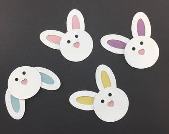 Bunny Leather Die Cuts for craft project, party decoration or card making use. Sold individually or in multiples for volume discounts