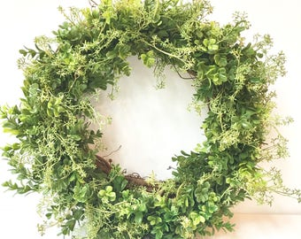20 inch faux boxwood wreath
