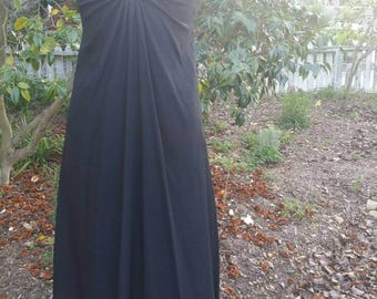 Witchy 70s does 30s goth maxi edwardian victorian boho lace 1970s gypsy gothic mori