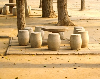 Drum Table, Old Summer Palace, Beijing, China