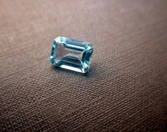 Loose Blue Topaz - Sky Blue - 8 x 6mm - Emerald Cut