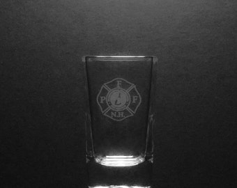 2.5 Ounce Professional Firefighters Of New Hampshire Shot Glass