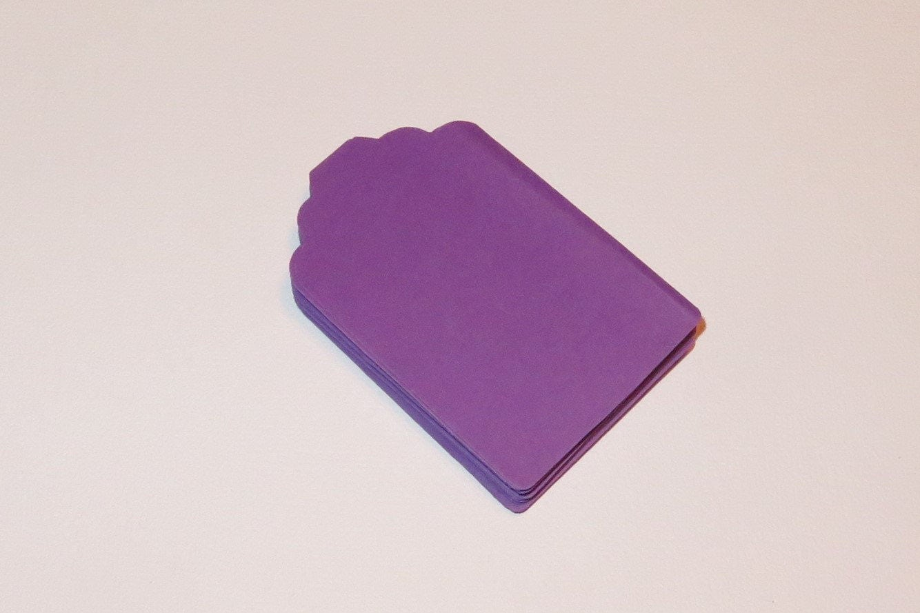 Purple Tag: Dark Purple Tags For Labeling, Scrapbooking, Gifts, Thank