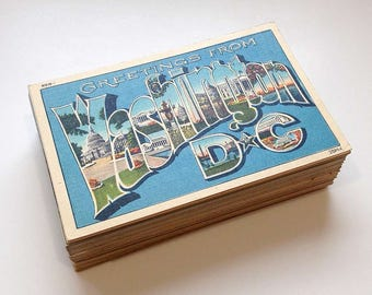 100 Washington D.C. Vintage Postcards - Travel Journal, Wedding Guest Book, Decor (Unused and Blank)